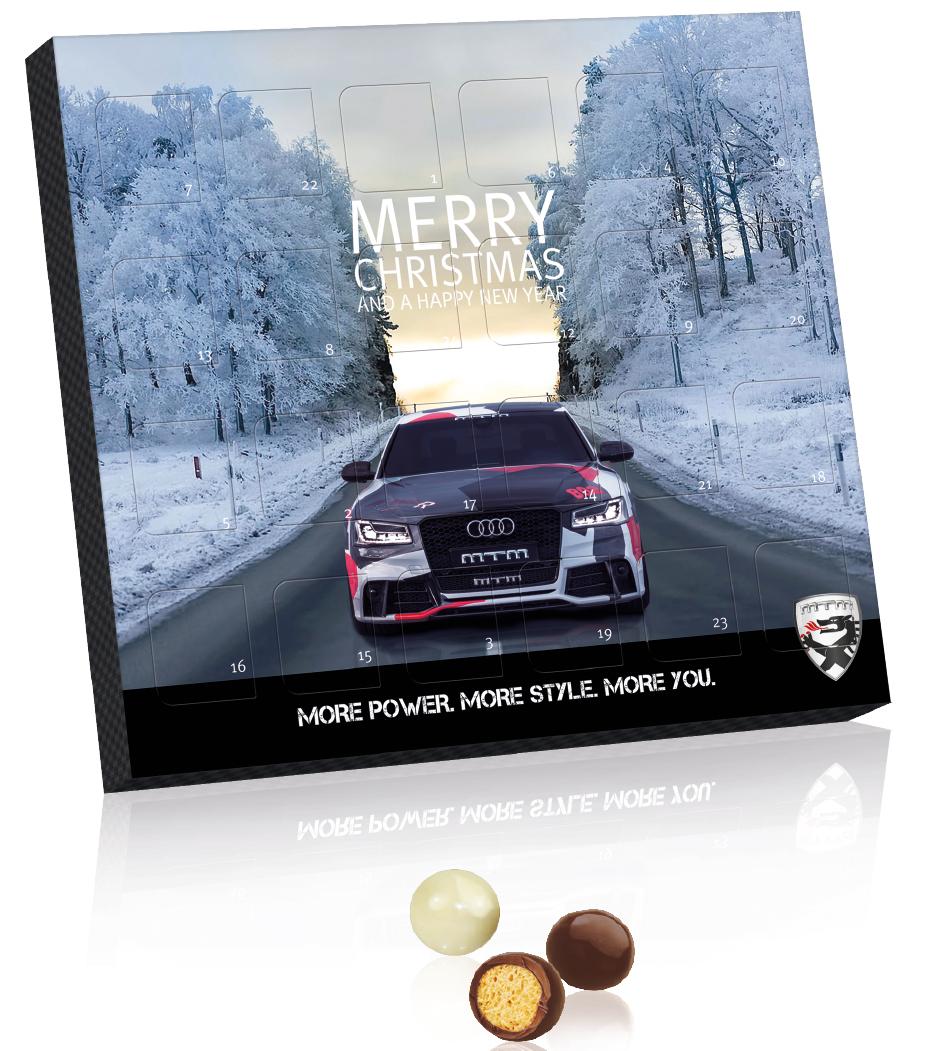 chokladkalender med eget tryck