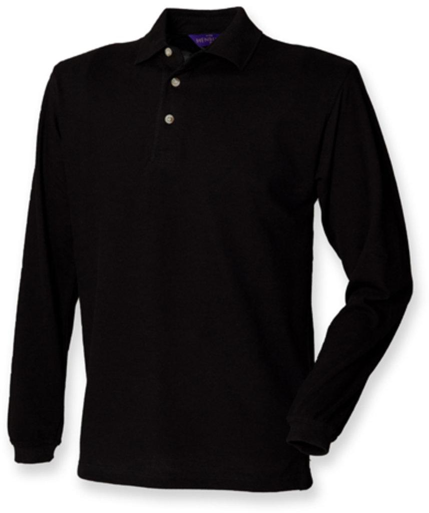 Long Sleeved Cotton Piqué Polo Shirt