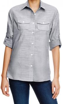 Ladies` Woven Texture Shirt