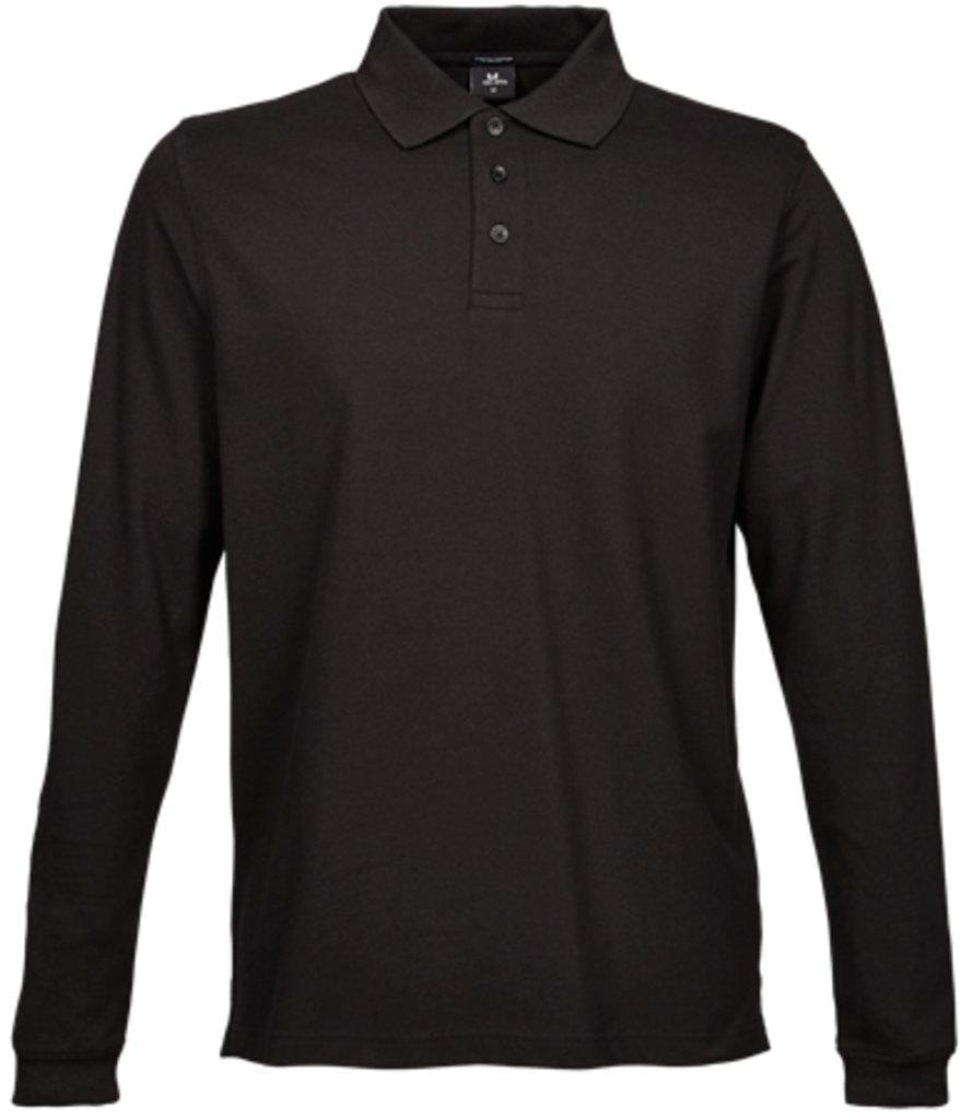 Luxury Stretch Long Sleeve Polo