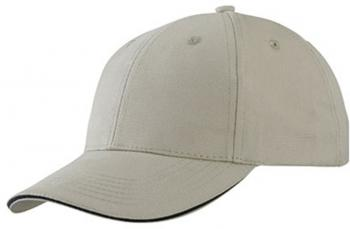 6 Panel Light brushed Sandwich Cap