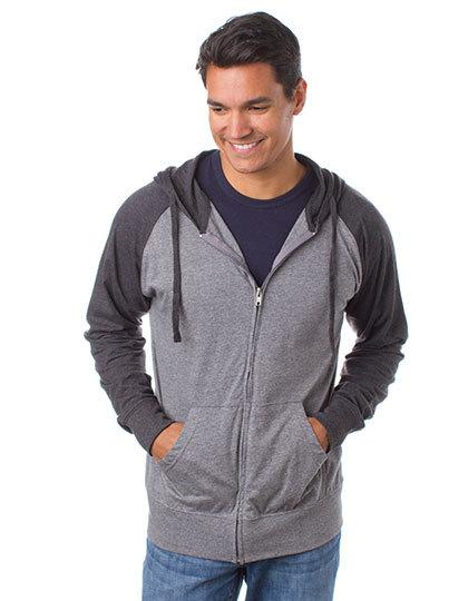 Men`s Lightweight Jersey Raglan Zip Hood