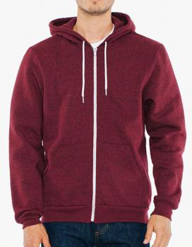 Unisex Mock Twist Zip Hooded Sweatshirt