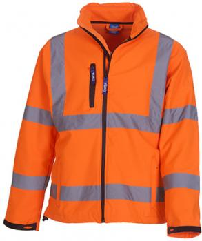 High Visibility 2 Bands & Braces Softshell Jacket