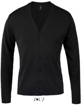 Golden Men V-Neck Knitted Cardigan