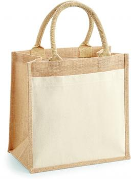 Cotton Pocket Jute Midi Bag