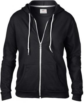 Women`s Full Zip Hooded Sweatjacket