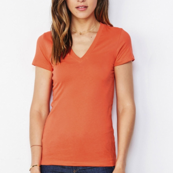 Dam Jersey Deep V-neck T-shirt