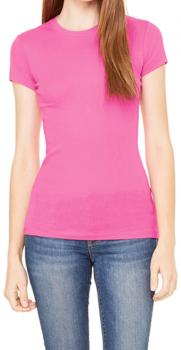 Sheer Rib Crew Neck T-Shirt