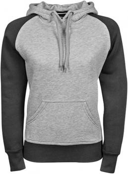Ladies` Two-Tone Hooded Sweatshirt