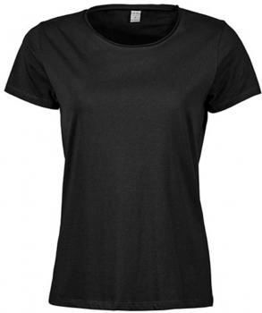 Ladies` Raw Edge Tee