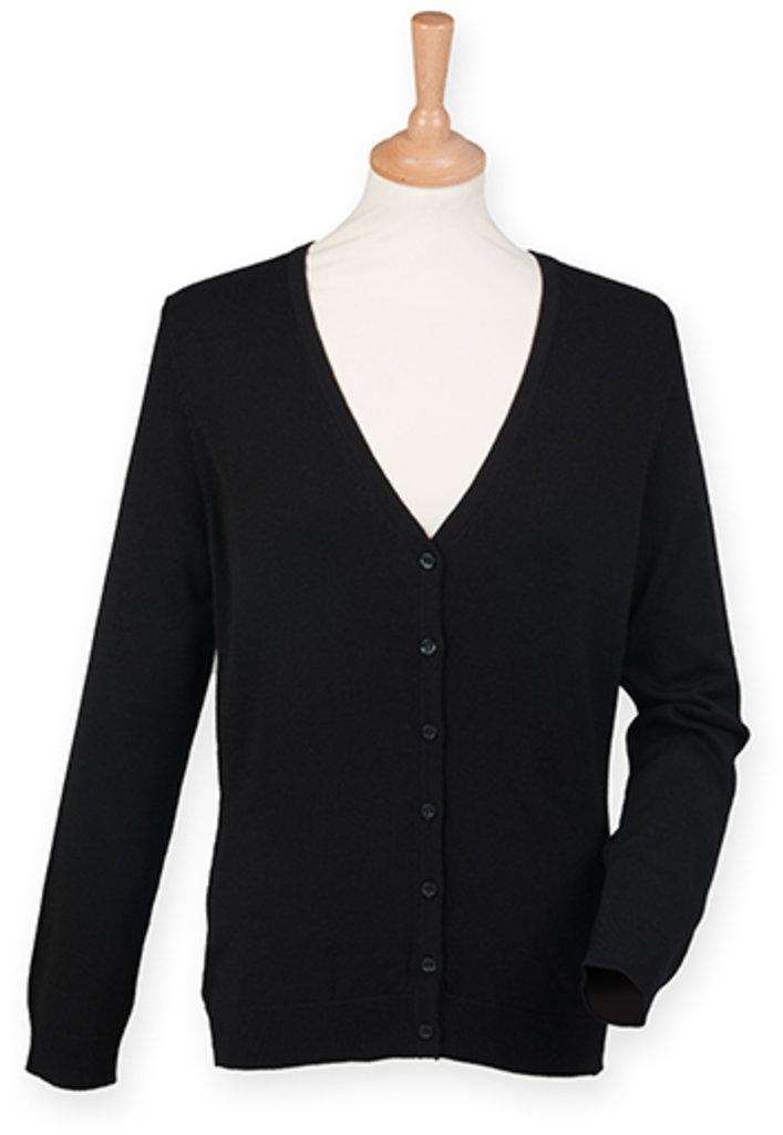 Ladies` Lightweight V-Neck Short Cardigan