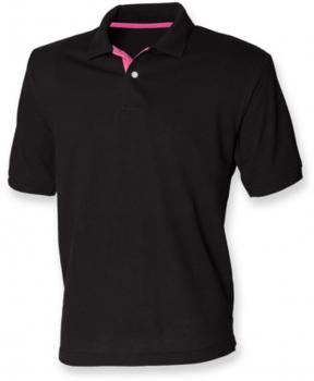 Men`s Contrast Piqué Polo Shirt 65/35