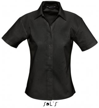 Ladies` Oxford-Blouse Elite Short Sleeve