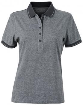 Ladies` Heather Polo