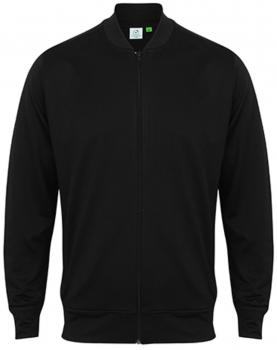 Men`s Track Top With Baseball Collar