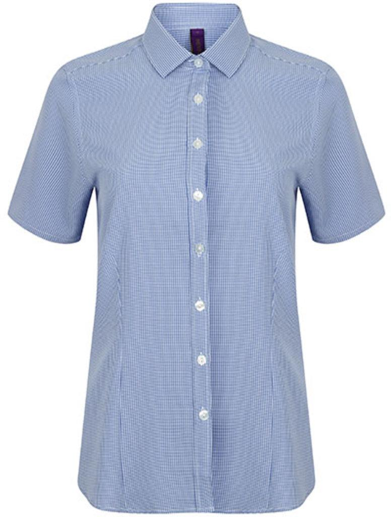 Ladies` Gingham Cofrex Pufy Wicking Shirt