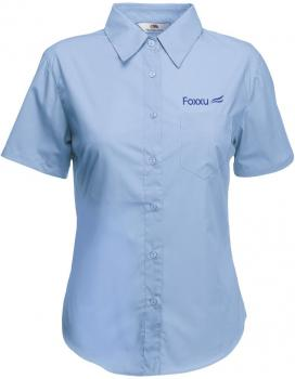 Fruit of the Loom Poplin ShortSleeve dameskjorte