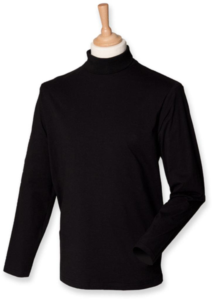 Roll-Neck Long-Sleeve T-Shirt