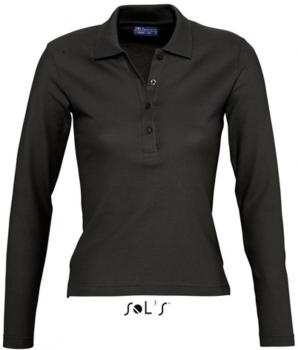Ladies` Longlseeve Polo Podium