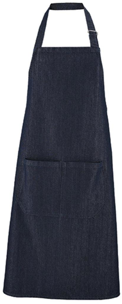 Denim Bib Apron Grant with Pocket