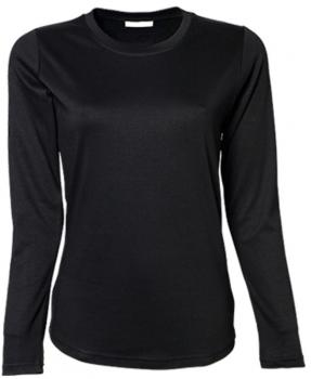 Ladies` Long Sleeve Interlock Tee