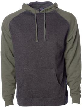 Men`s Lightweight Raglan Hooded Pullover