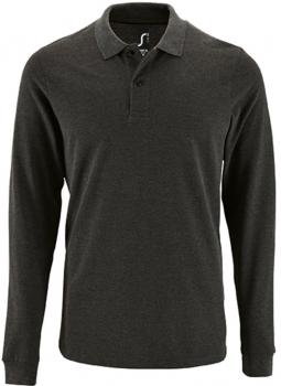 Men`s Long-Sleeve Piqué Polo Shirt Perfect