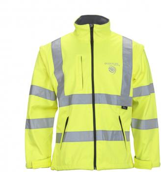 Vizwell High Visibility Softshell Jacka 2-in-1